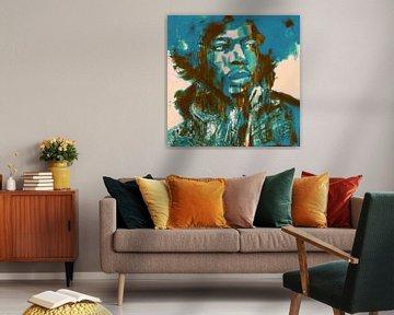 Jimi Hendrix Lets play Music Pop Art Pur van Felix von Altersheim