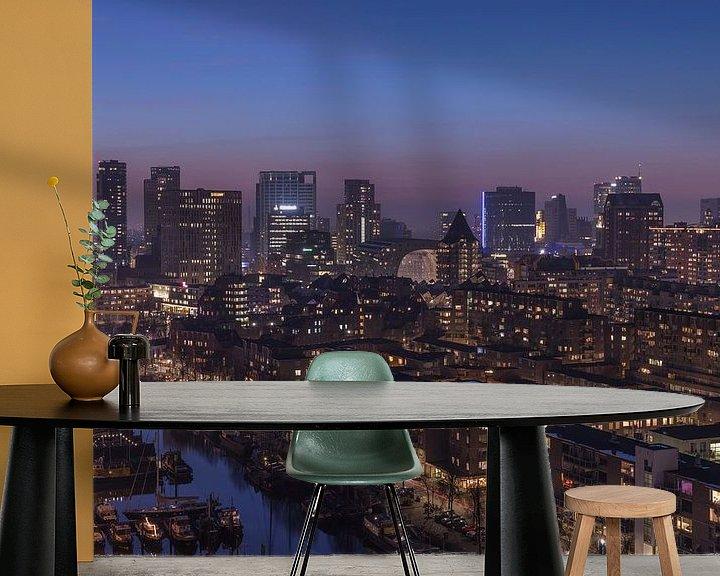 Sfeerimpressie behang: Het stadscentrum van Rotterdam van MS Fotografie | Marc van der Stelt