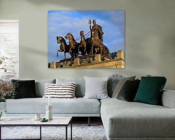 Quadriga op kasteel Braunschweig van Ralf Schroeer