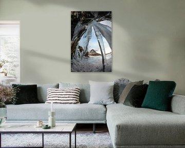 Vanachter de waterval Kirkjufellfoss van Gerry van Roosmalen