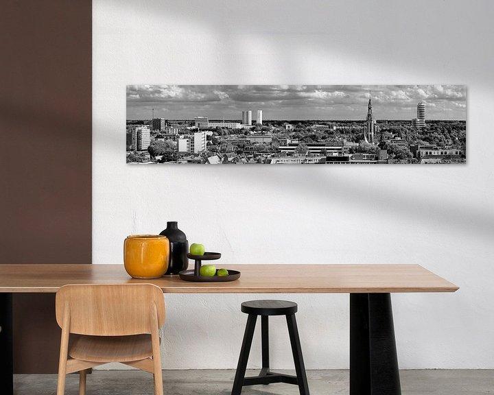 Sfeerimpressie: Panorama Groningen zuid zwart wit van Anton de Zeeuw