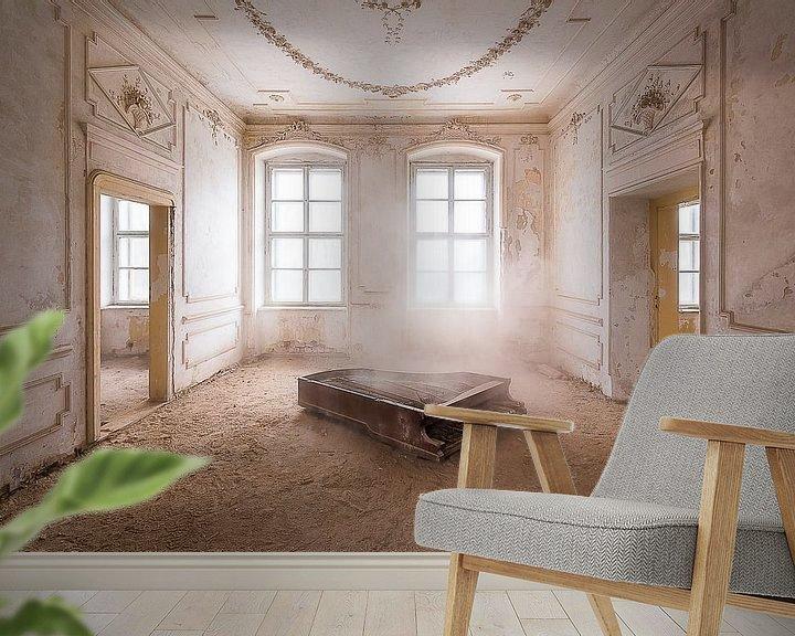 Impression: Piano dans la poussière. sur Roman Robroek