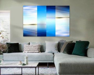 Surreale blaue abstrakte seelandschaft