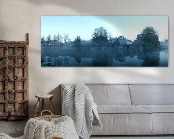 De Zuidwal in ochtendnevel van Jasper van de Gein Photography