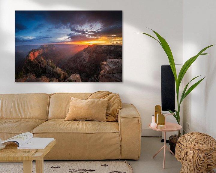 Sfeerimpressie: Grand Canyon Zonsondergang van Edwin Mooijaart