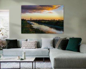 Zonsondergang van Marjon van den Broek