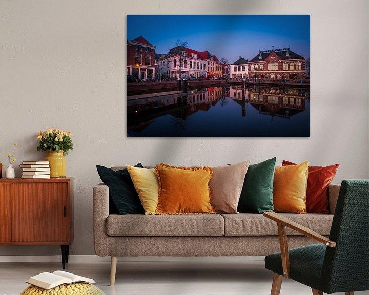 Sfeerimpressie: Leiden Haven tijdens het blauwe uur van Leanne lovink