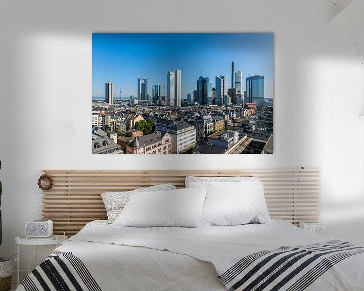 Sfeerimpressie: De skyline van Frankfurt in Duitsland van MS Fotografie | Marc van der Stelt