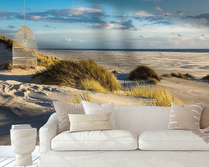 Beispiel fototapete: Landschaft mit Dünen auf der Insel Amrum von Rico Ködder