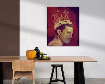 Freddie Mercury The King Classic Pop Art PUR  von Felix von Altersheim