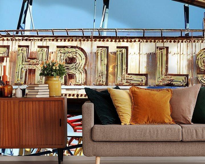 Sfeerimpressie behang: WonderWheel (Coney Island) van bob brunschot