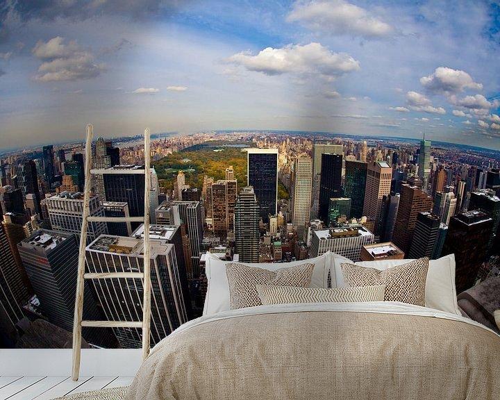 Sfeerimpressie behang: View on Central Park van Joran Maaswinkel