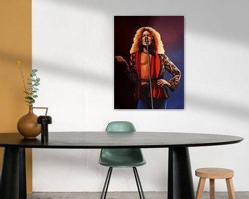 Robert Plant of Led Zeppelin Schilderij van Paul Meijering
