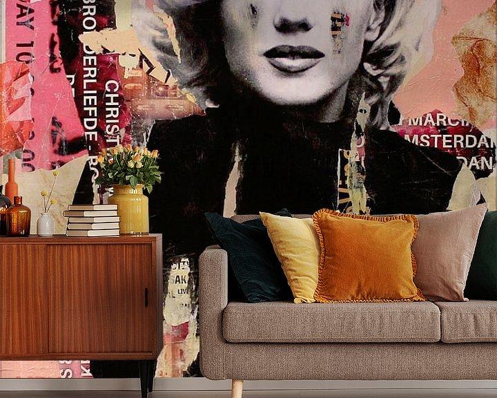 Sfeerimpressie behang: Marilyn Monroe van Michiel Folkers