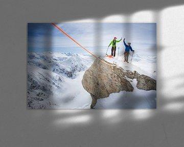 Topteam op Denali, Alaska van Menno Boermans
