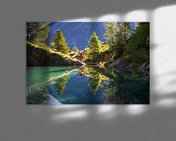 Lac Blue in Val d'Anniviers in der Schweiz von Menno Boermans