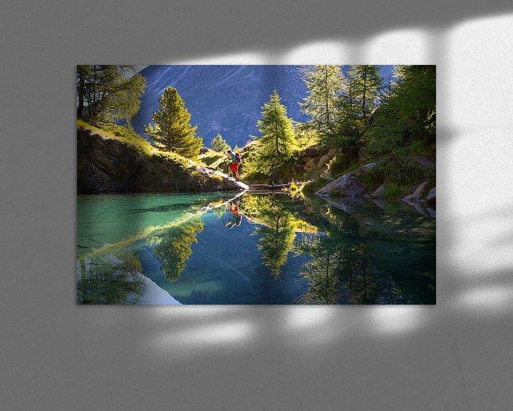 Sfeerimpressie: Lac Blue in Val d'Anniviers in de Zwitserse Alpen van Menno Boermans