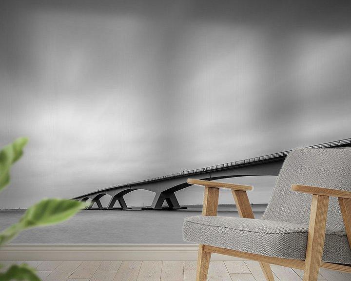 Sfeerimpressie behang: Zeelandbrug van Edwin van Wijk
