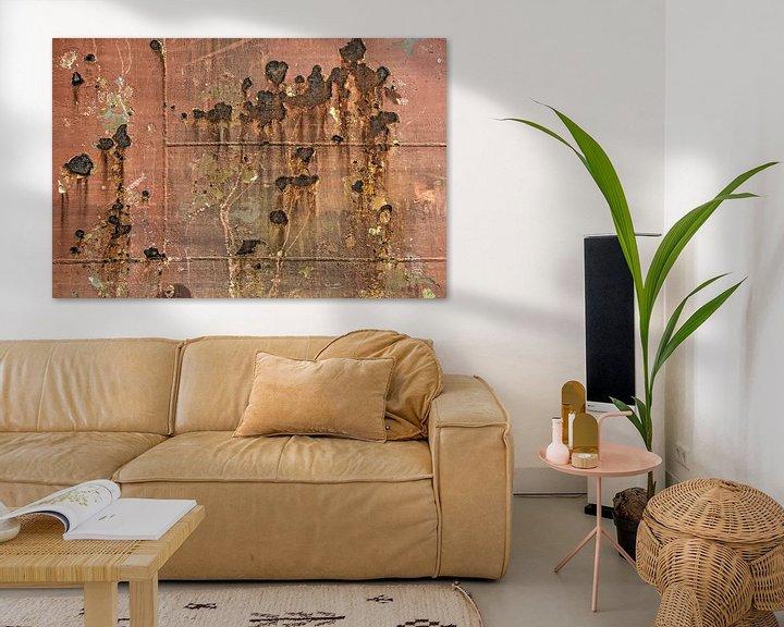 Sfeerimpressie: Scheepsromp met roest en lasnaden van Frans Blok