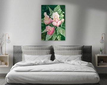 Schlafende rosig Blume Weibchen von Anouk Maria van Deursen