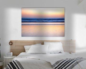 Abstracted seascape at sunset van Peter van Eekelen