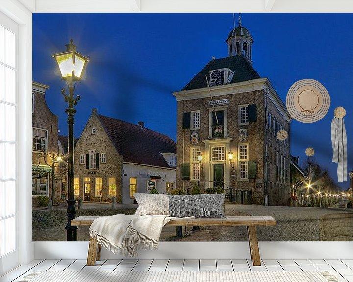 Sfeerimpressie behang: Stadhuis / raadhuis Nieuwpoort van Rens Marskamp