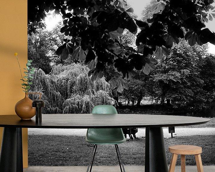 Beispiel fototapete: Sitting on a bench von Paul Teixeira
