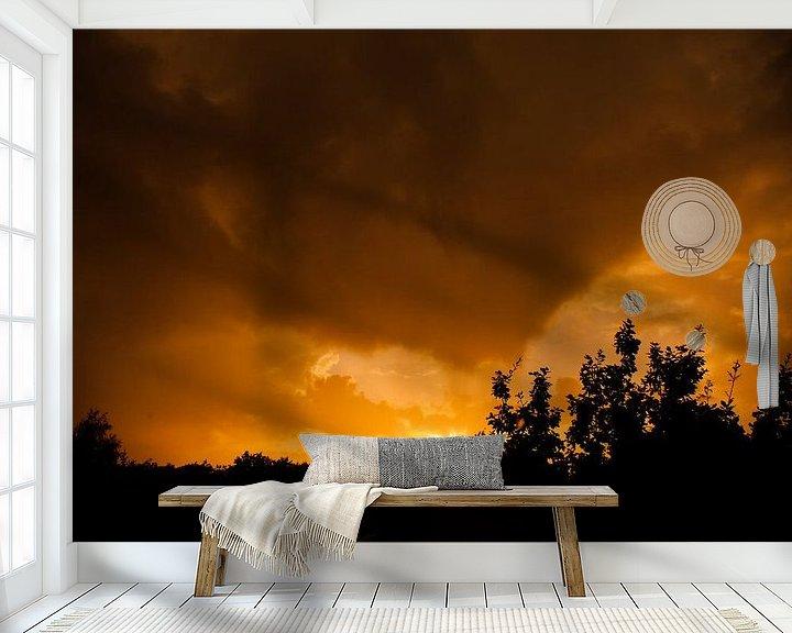 Sfeerimpressie behang: Zonsondergang van Robbie Veldwijk