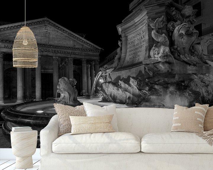 Sfeerimpressie behang: Piazza della Rotonda in Rome van Eus Driessen
