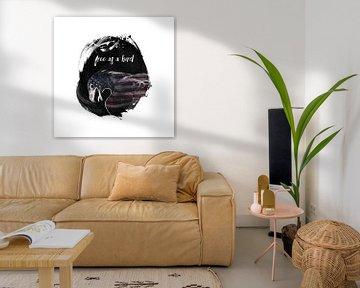 Graphic Art Free as a bird van Melanie Viola