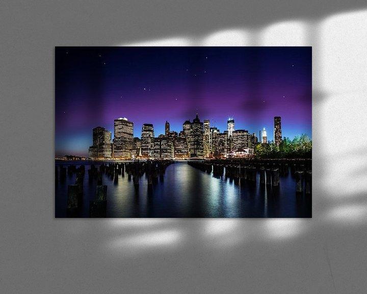 Sfeerimpressie: Manhattan Skyline van Nanouk el Gamal - Wijchers (Photonook)