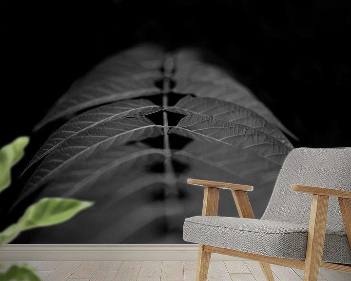 Sfeerimpressie behang: Blad. van Arne Claessens