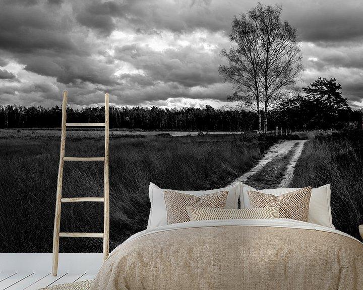 Sfeerimpressie behang: Heide. van Arne Claessens