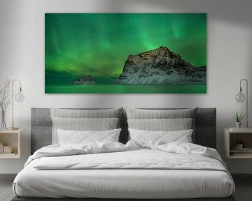 Aurora Borealis at Vik Beach von Nando Harmsen