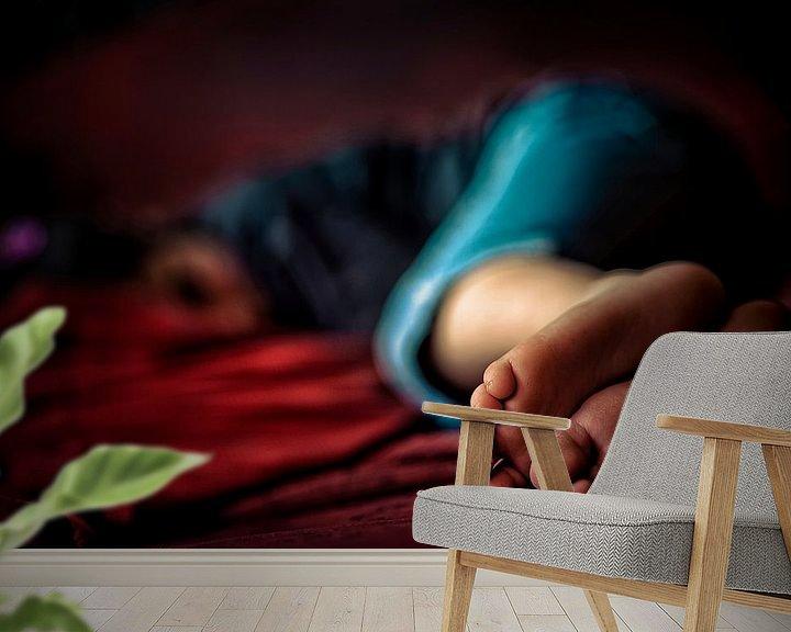 Beispiel fototapete: Slapend kind von Huibert van der Meer