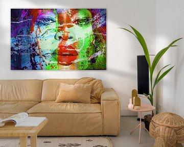 Motiv Naomi Portrait Campbell Splash  Pop Art PUR von Felix von Altersheim