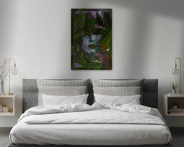 Gezicht van de vrouw abstract - De lente komt eraan van Christine Nöhmeier