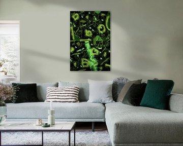 Spring - Abstract in Green van Christine Nöhmeier