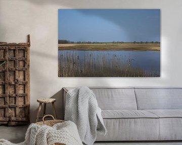 sky reflected in water van Kerstin Lotze