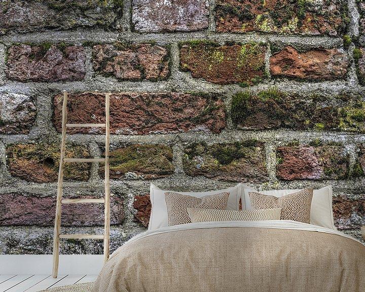 Beispiel fototapete: Buntes Mauerwerk von Frans Blok