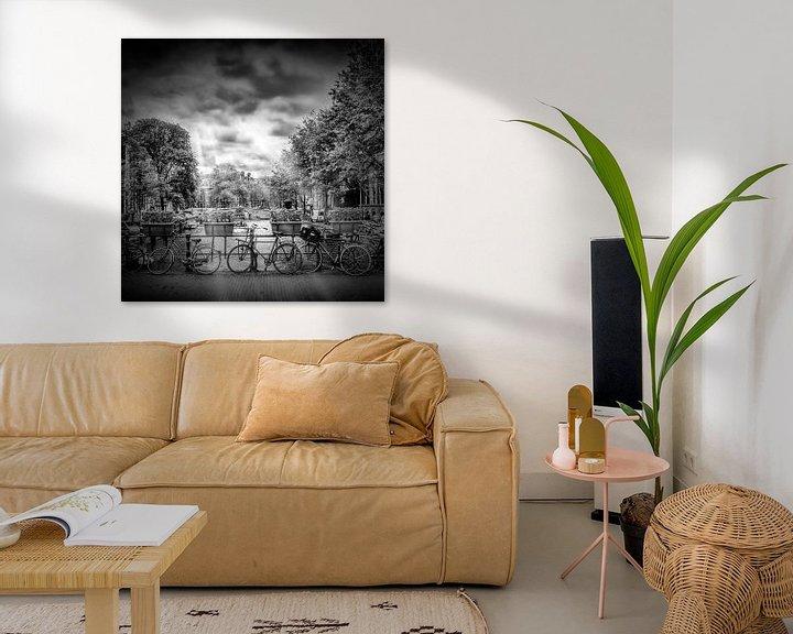 Sfeerimpressie: AMSTERDAM Herengracht   monochroom van Melanie Viola