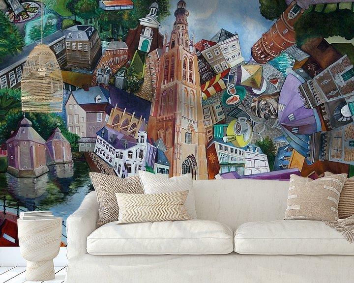 Sfeerimpressie behang: Breda Grote Kerk van Jeroen Quirijns