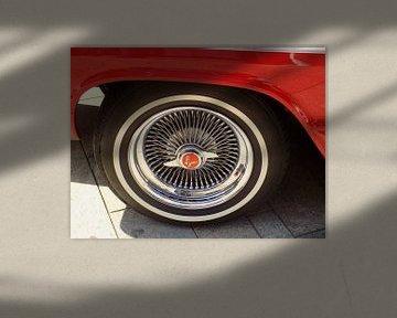 Chromen velgen Klassieke Sportauto