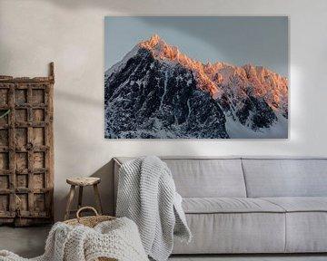 Zonsondergang op de Lyngen Alpen, Noorwegen van Martijn Smeets