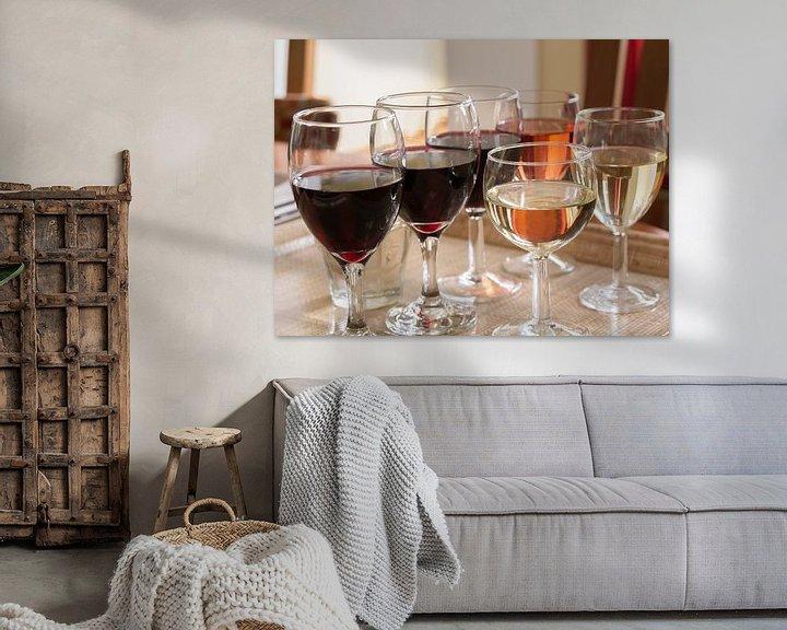 Sfeerimpressie: Wijnglazen van Ronald Smits