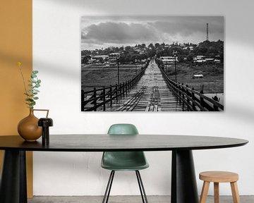 houten brug Sanghklaburi von Karen Klein