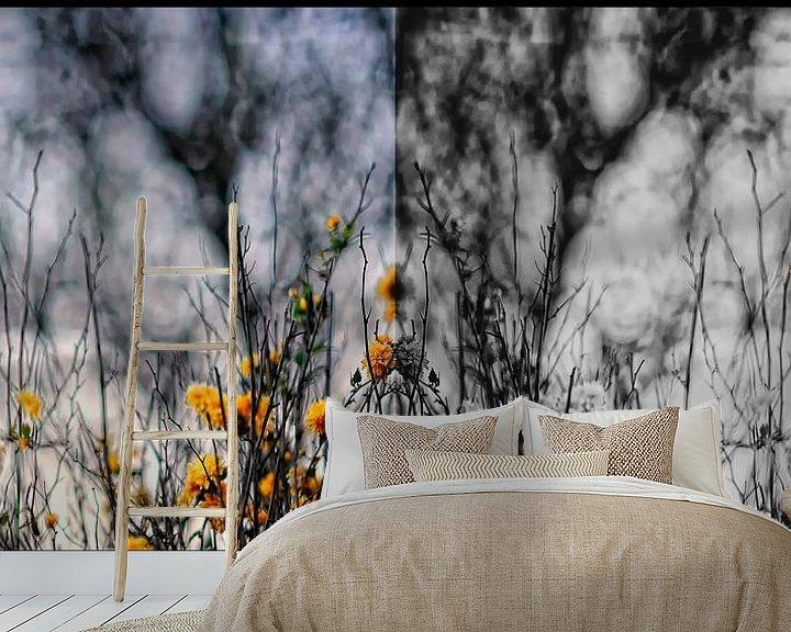 Sfeerimpressie behang: tweeluik van Huibert van der Meer