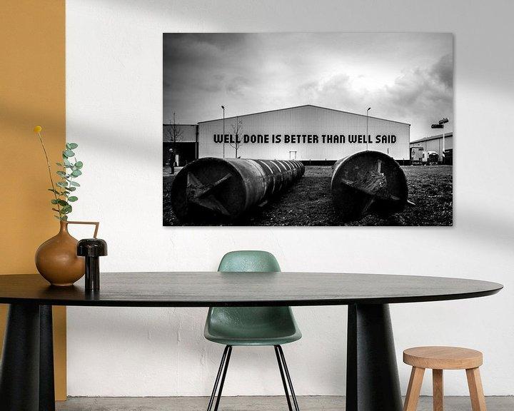 Beispiel: Well done is better than well said von Mirjam van der Linden