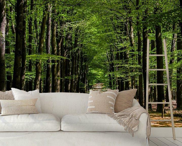 Sfeerimpressie behang: Bomen van Tiny Dekker