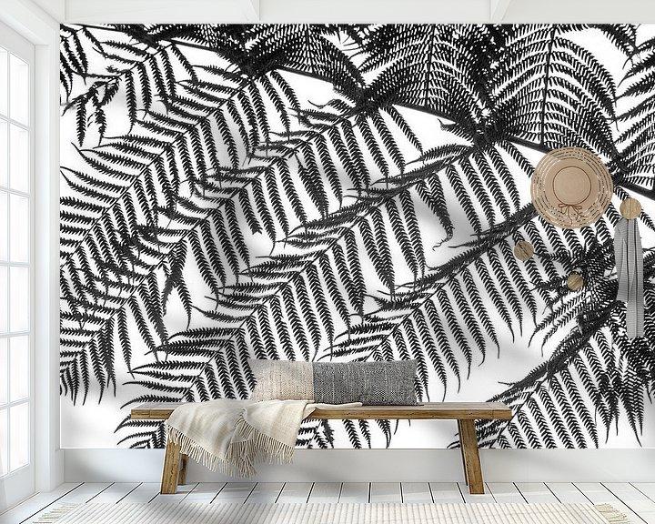 Sfeerimpressie behang: Varen, zwart wit van Rietje Bulthuis